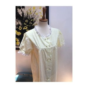 Vintage Blush Yellow Nightgown